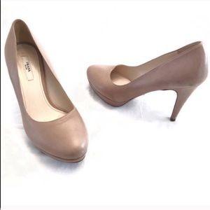 Prada nude platform round toe heels pumps 37 / 7